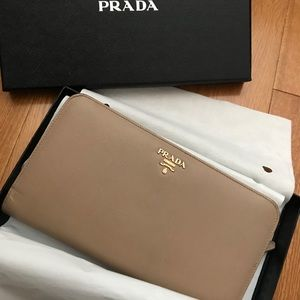 Prada wallet pinkest nude color